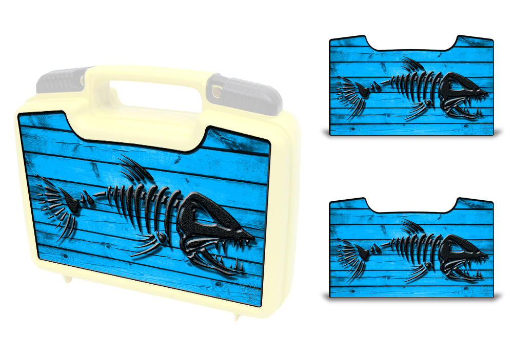 USATuff Wrap For Cliff Outdoors Bugger Beast and Bugger Junior Fly Boxes Graphic Sticker Decal Kits Bonefish Blue