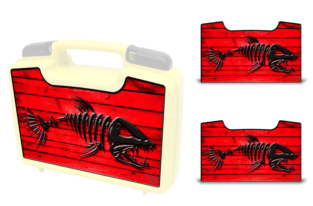USATuff Wrap For Cliff Outdoors Bugger Beast and Bugger Junior Fly Boxes Graphic Sticker Decal Kits Bonefish Red