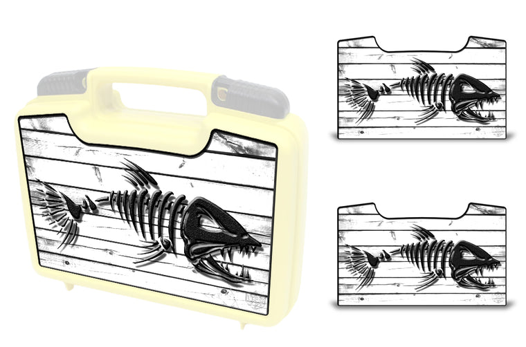 USATuff Wrap For Cliff Outdoors Bugger Beast and Bugger Junior Fly Boxes Graphic Sticker Decal Kits Bonefish White