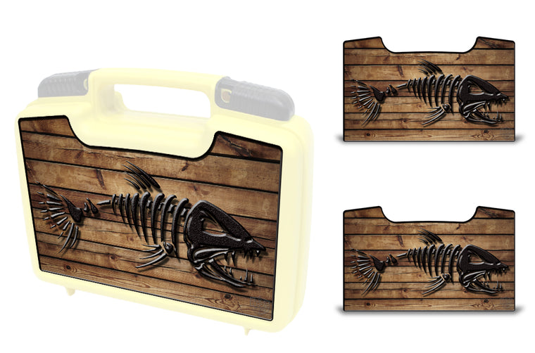 USATuff Wrap For Cliff Outdoors Bugger Beast and Bugger Junior Fly Boxes Graphic Sticker Decal Kits Bonefish Wood