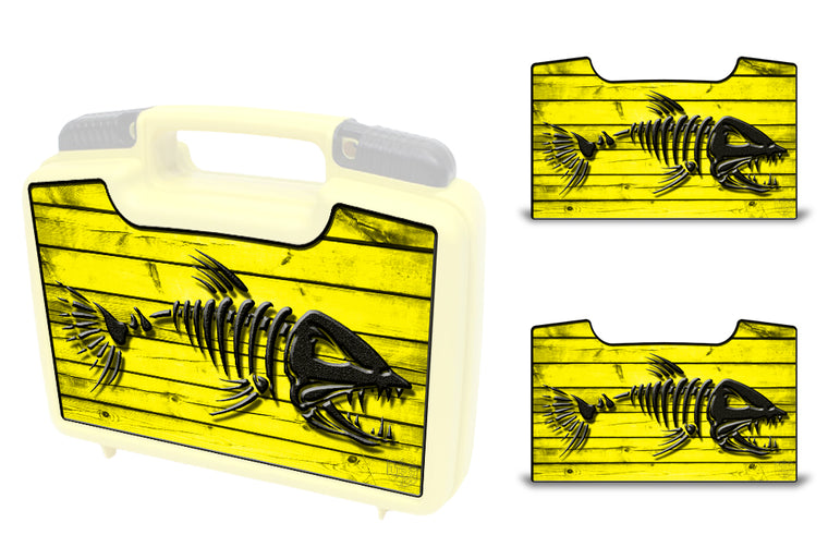 USATuff Wrap For Cliff Outdoors Bugger Beast and Bugger Junior Fly Boxes Graphic Sticker Decal Kits Bonefish Yellow