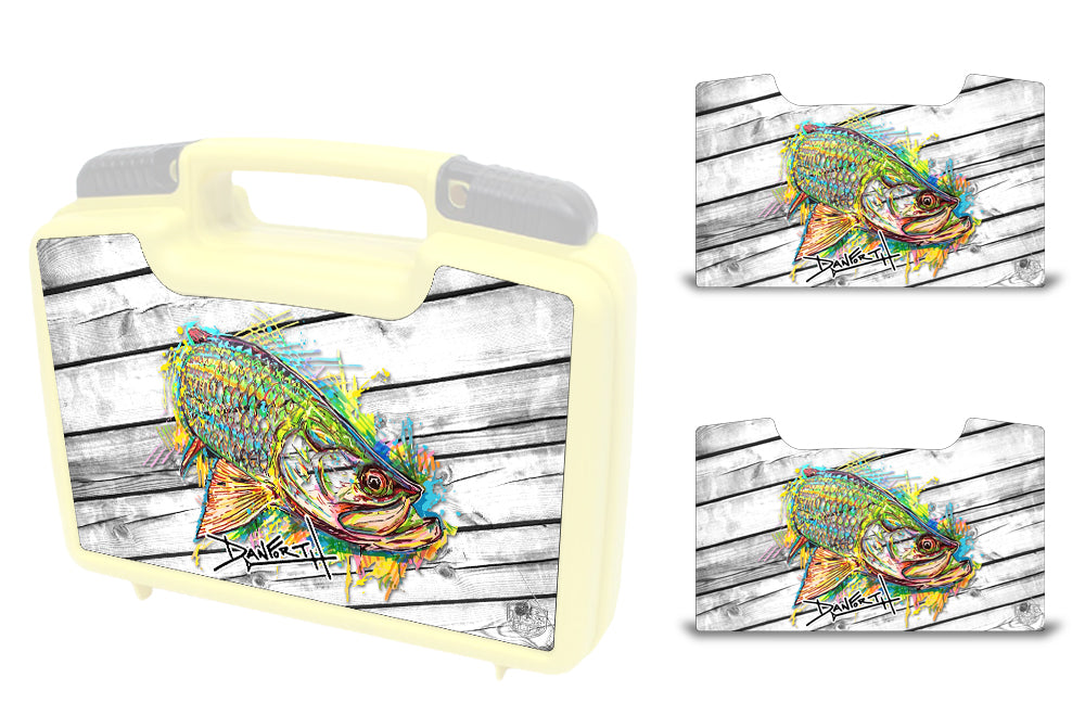 USATuff Wrap For Cliff Outdoors Bugger Beast and Bugger Junior Fly Boxes Graphic Sticker Decal Kits Tarpon Neon Blast by David Danforth