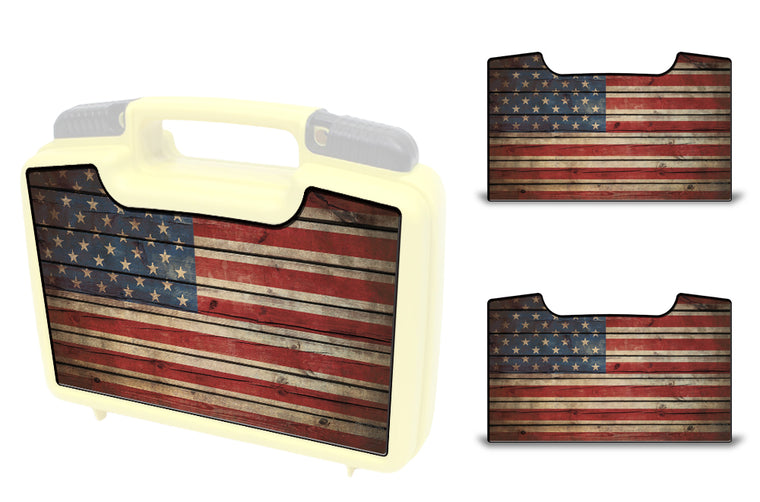 USATuff Wrap For Cliff Outdoors Bugger Beast and Bugger Junior Fly Boxes Graphic Sticker Decal Kits Old Glory