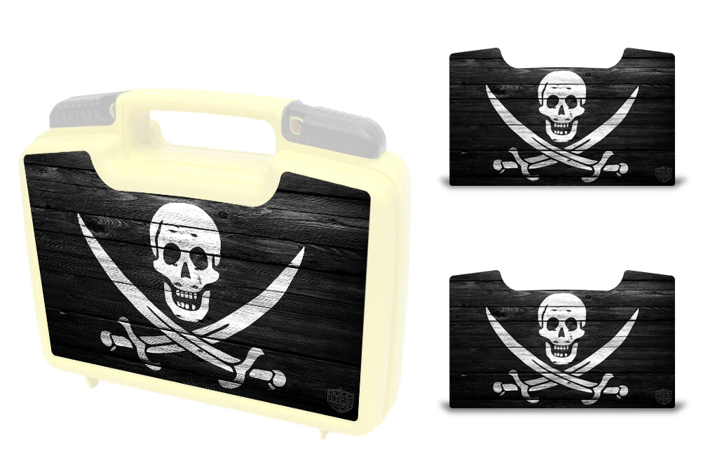 USATuff Wrap For Cliff Outdoors Bugger Beast and Bugger Junior Fly Boxes Graphic Sticker Decal Kits Pirate Flag Wood
