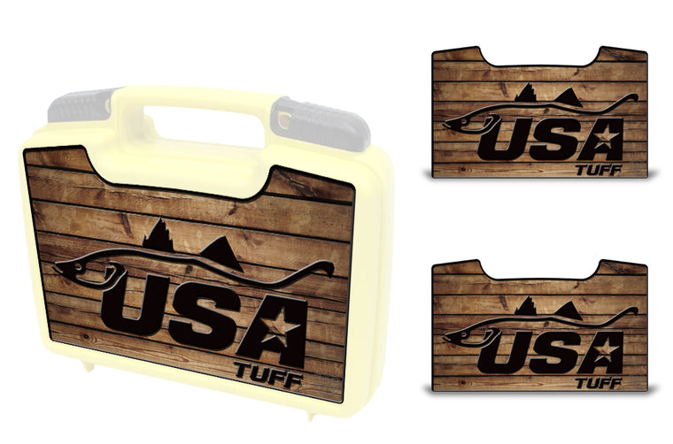 USATuff Wrap For Cliff Outdoors Bugger Beast and Bugger Junior Fly Boxes Graphic Sticker Decal Kits Snook Wood
