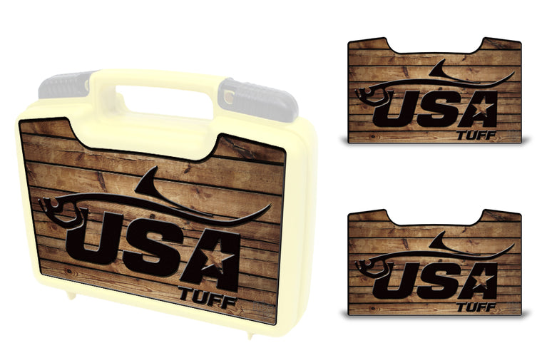 USATuff Wrap For Cliff Outdoors Bugger Beast and Bugger Junior Fly Boxes Graphic Sticker Decal Kits Tarpon Wood