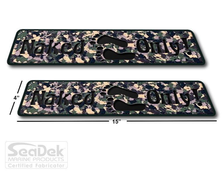 SeaDek Traction Step Pad | 2 Piece Set | 15x4 | ArmyCamo-Black - Naked Only Long