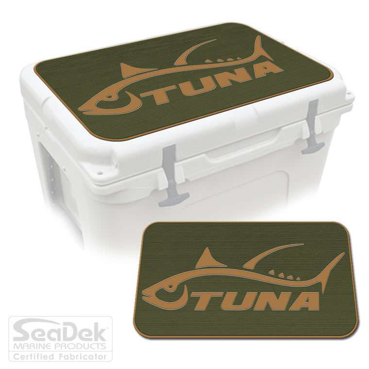SeaDek Cooler Pad Marine EVA Mat by USATuff Fits YETI RTIC ORCA Ozark Trail Traction Non-Slip Seat Pad