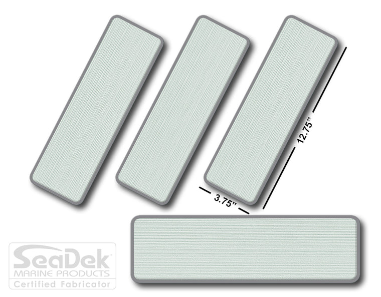 SeaDek Traction Step Pad | 4 Piece Set | 12.75X3.75 |SeaFoam-StormGray - Blank Design