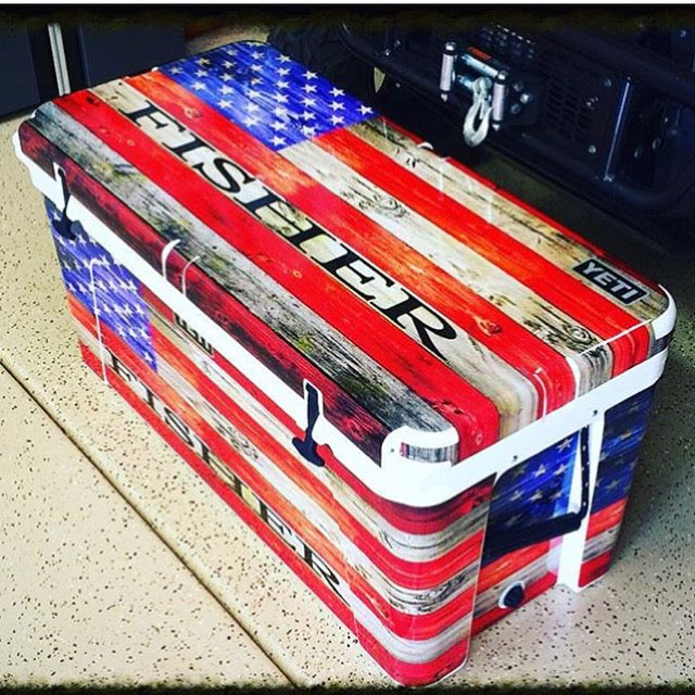 USATuff Custom Cooler Wrap Kit - USA Flag Color