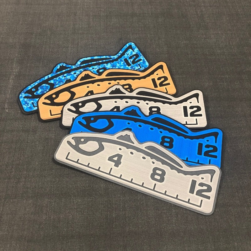 "Fish Ruler 12"" TARPON BiminiBlue/Black"