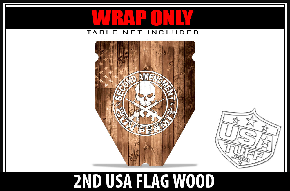 USATuff Gun Case & Shooting Table Graphic Wrap Decal Kits