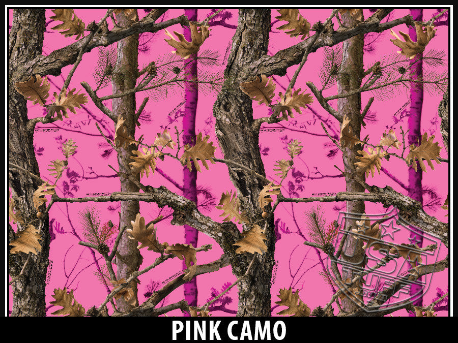 USA Tuff Tumbler Cup Wrap Kit for RTIC YETI Pink Tree Camo Design