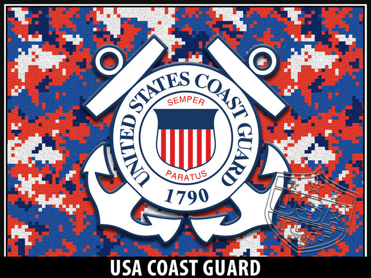 USA Tuff Tumbler Cup Wrap Kit for RTIC YETI US Coast Guard Digicamo