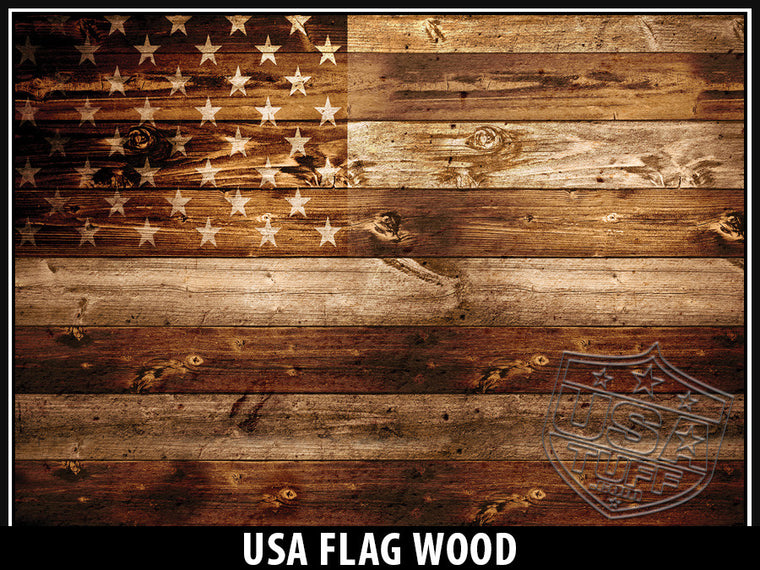 USA Tuff Tumbler Cup Wrap Kit for RTIC YETI USA Flag Wood
