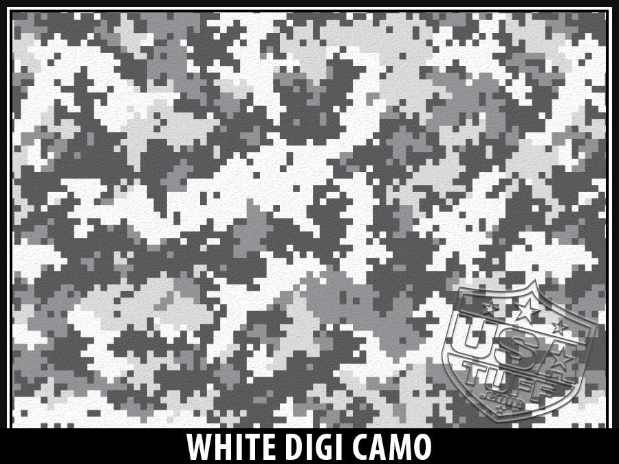 USA Tuff Tumbler Cup Wrap Kit for RTIC YETI White Digi Camo
