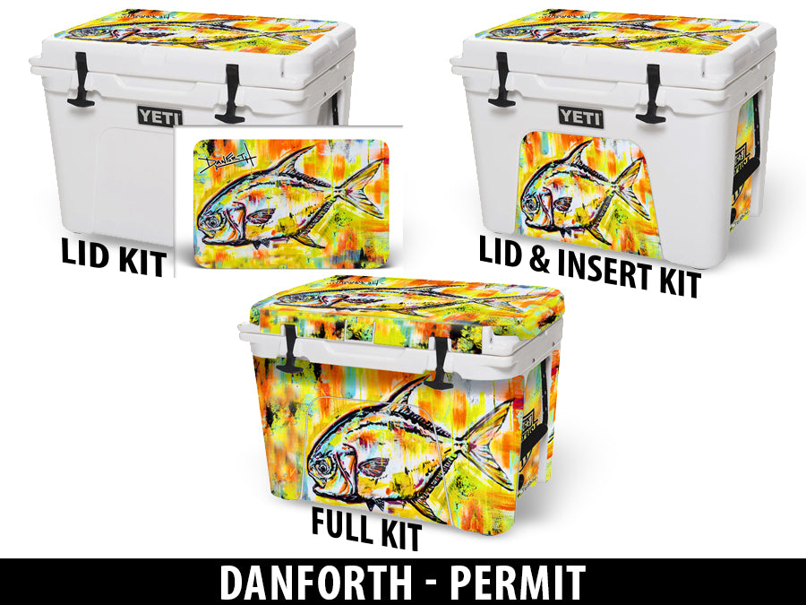 USATuff Cooler Accessories Ice Chest Graphic Sticker Decal Kits - Permit by David Danforth