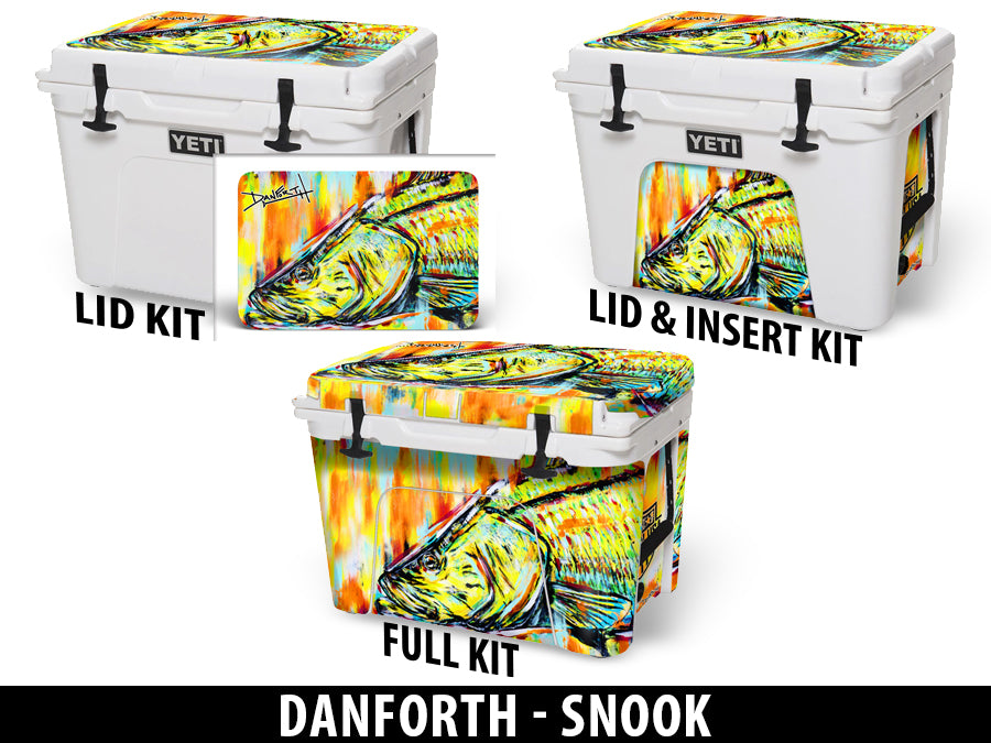USATuff Cooler Accessories Ice Chest Graphic Sticker Decal Kits - Snook by David Danforth