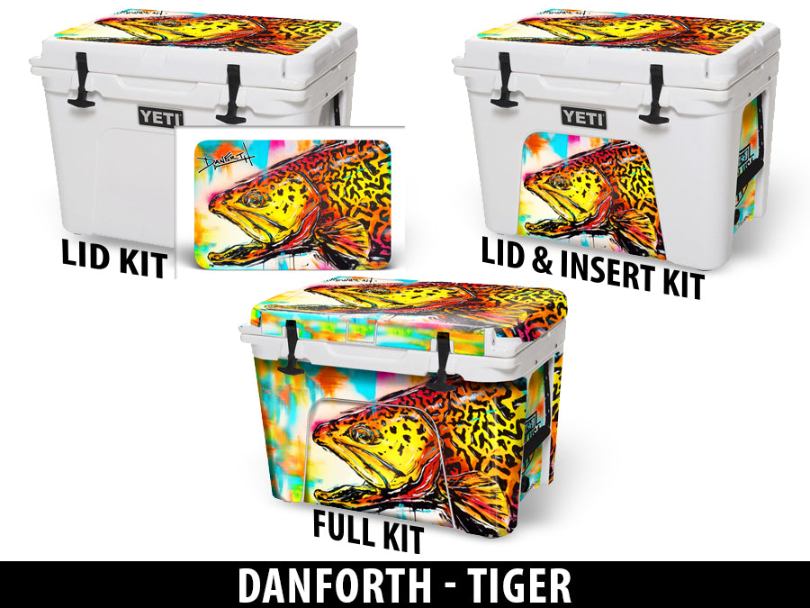 USATuff Cooler Accessories Ice Chest Graphic Sticker Decal Kits - Tiger by David Danforth