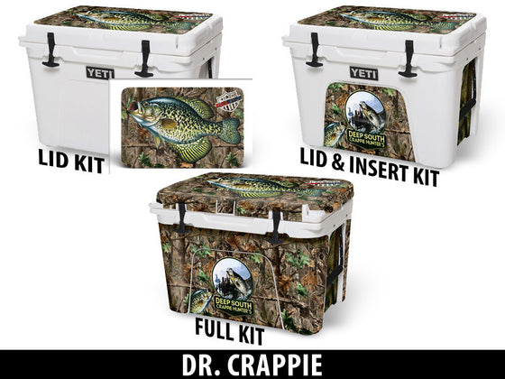 USATuff Cooler Accessories Ice Chest Graphic Sticker Decal Kits - Dr Crappie