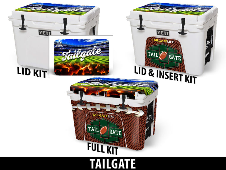 USATuff Cooler Accessories Ice Chest Graphic Sticker Decal Kits - Tailgate