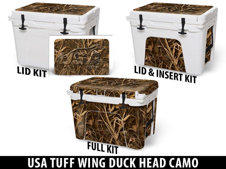 USATuff Cooler Accessories Ice Chest Graphic Sticker Decal Kits - USATuff Wing Duck Camo