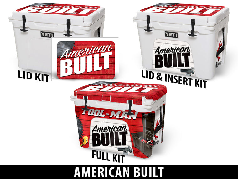 USATuff Cooler Accessories Ice Chest Graphic Sticker Decal Kits - American Built