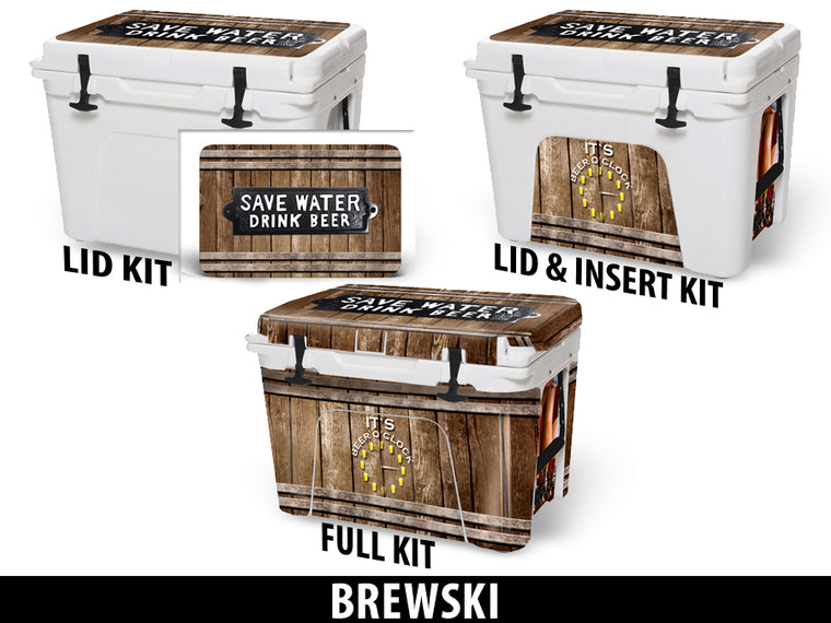 USATuff Cooler Accessories Ice Chest Graphic Sticker Decal Kits - Brewski