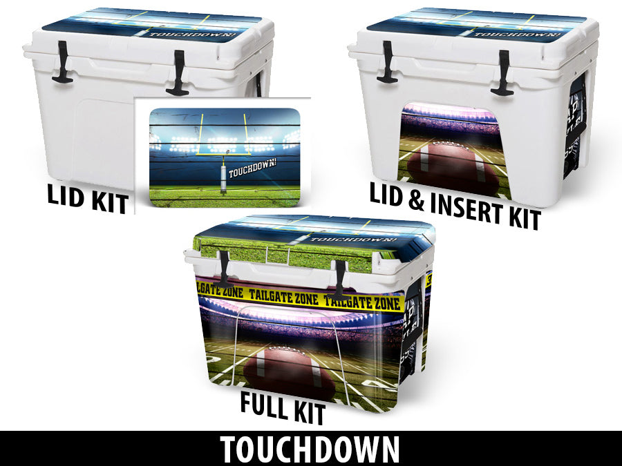 USATuff Cooler Accessories Ice Chest Graphic Sticker Decal Kits - Touchdown