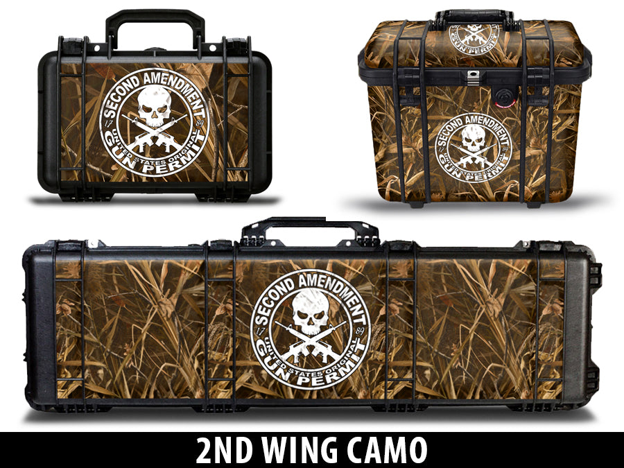 USATuff Gun Case Wrap Kit for PELICAN -2nd Amendment Wing Camo
