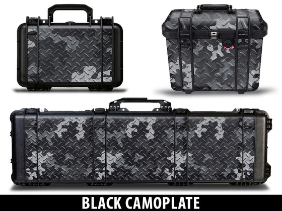 USATuff Pelican Gun Case Graphic Wrap Kit - Black Camoplate