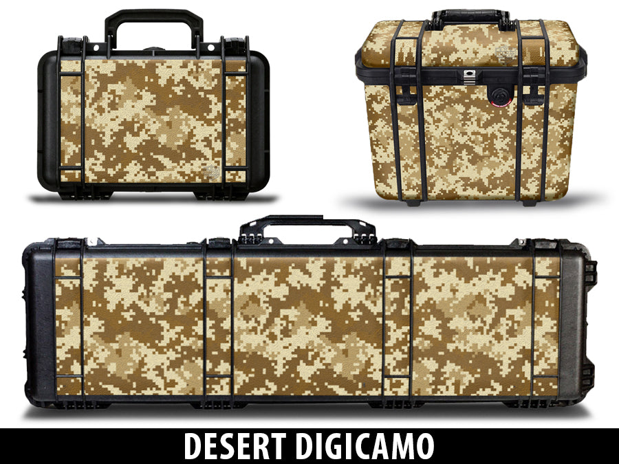 USATuff Pelican Gun Case Graphic Wrap Kit - Desert Digicamo