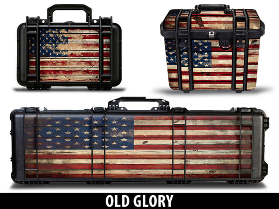 USATuff Pelican Gun Case Graphic Wrap Kit - Old Glory