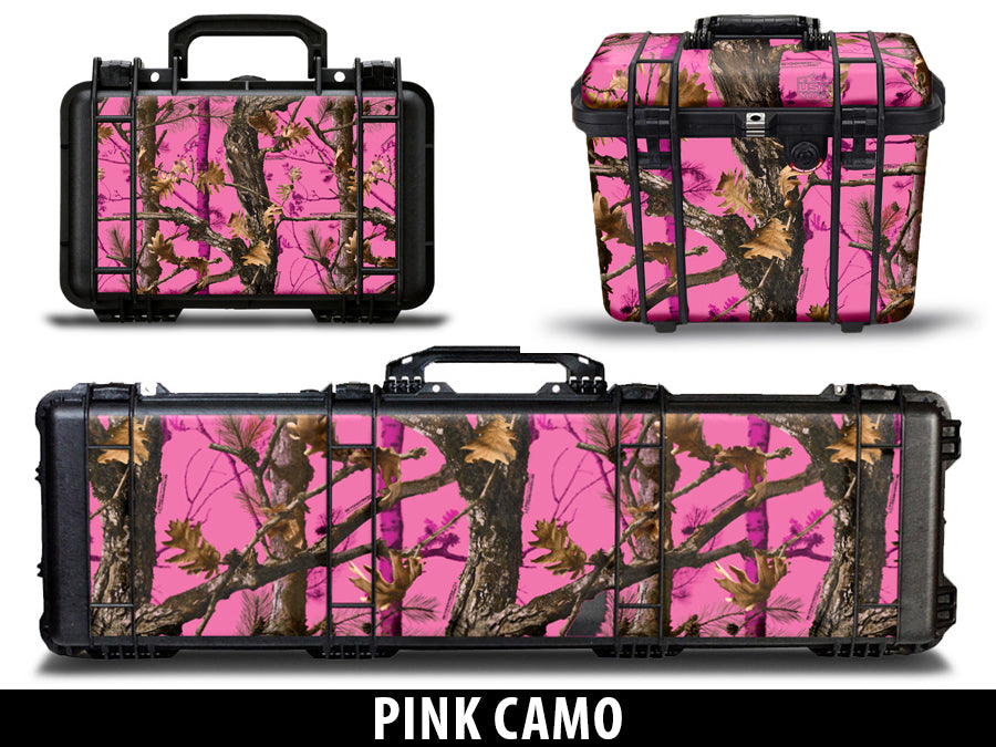 USATuff Pelican Gun Case Graphic Wrap Kit - Pink Camo