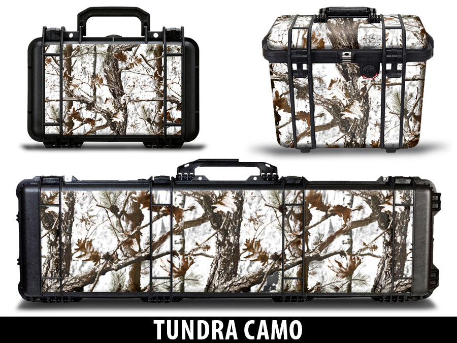 USATuff Pelican Gun Case Graphic Wrap Kit - Tundra Snow Camo