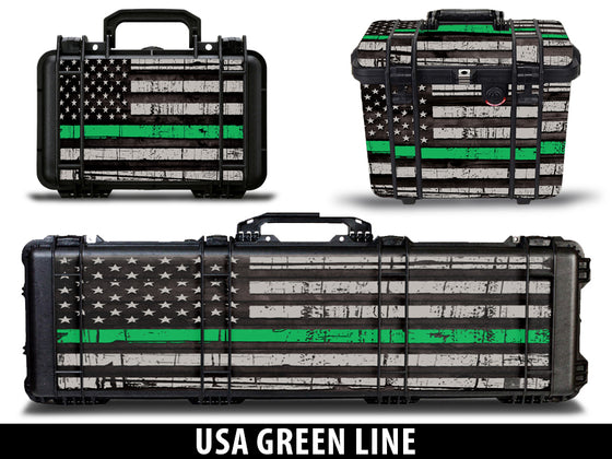 USATuff Gun Case Wrap Kit for PELICAN -USA Green Line