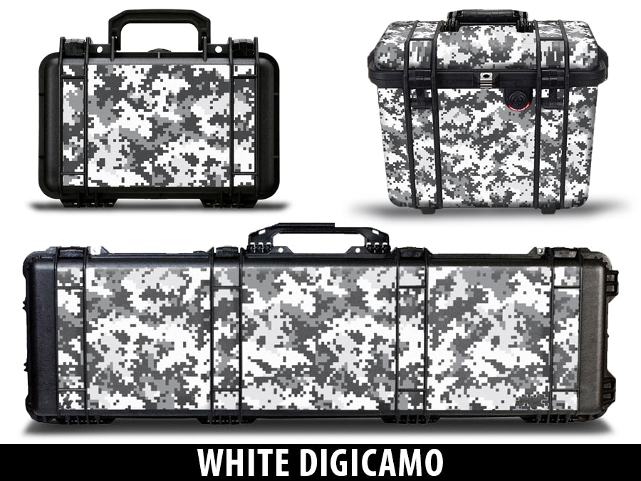 USATuff Pelican Gun Case Graphic Wrap Kit - White Digi Camo