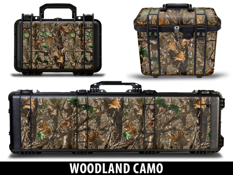 USATuff Pelican Gun Case Graphic Wrap Kit - Woodland Camo