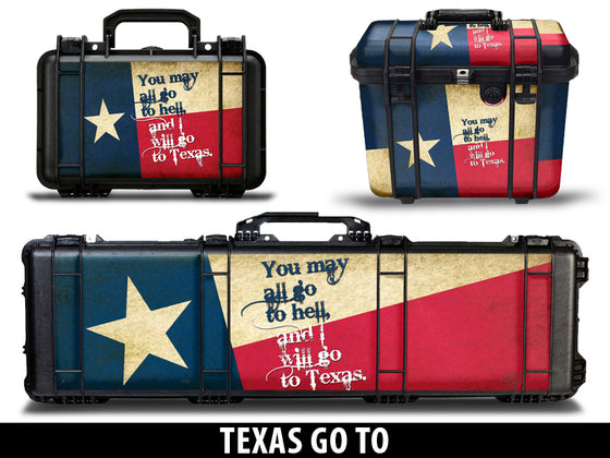 USATuff Pelican Gun Case Graphic Wrap Kit - Texas Go To Design