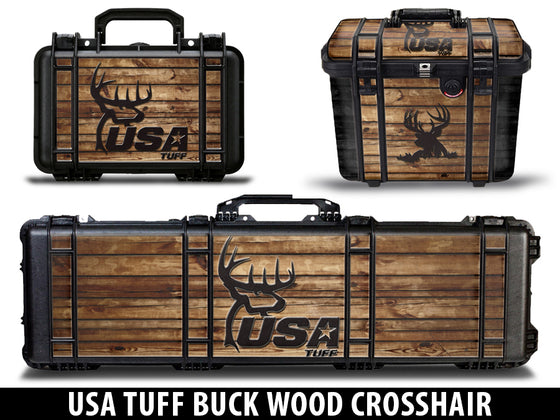 USATuff Pelican Gun Case Graphic Wrap Kit - USATuff Buck Wood Crosshair