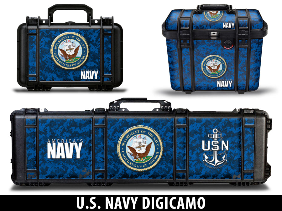 USATuff Pelican Gun Case Graphic Wrap Kit - US Navy