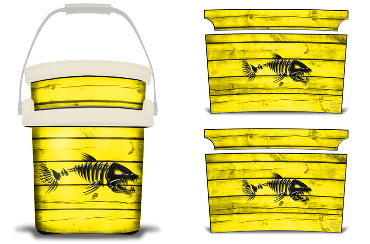 USATuff YETI Bucket Accessories Ice Bucket Graphic Sticker Decal Kits Bonefish Yellow