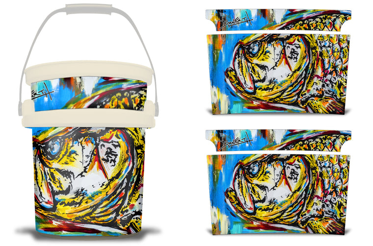 USATuff YETI Bucket Accessories Ice Bucket Graphic Sticker Decal Kits - Tarpon