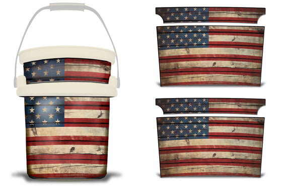 USATuff YETI Bucket Accessories Ice Bucket Graphic Sticker Decal Kits Old Glory