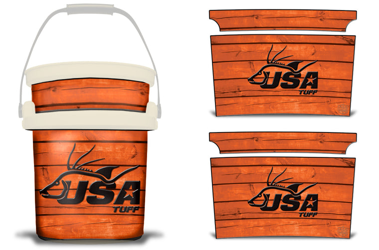 USATuff YETI Bucket Accessories Ice Bucket Graphic Sticker Decal Kits Hogfish Orange