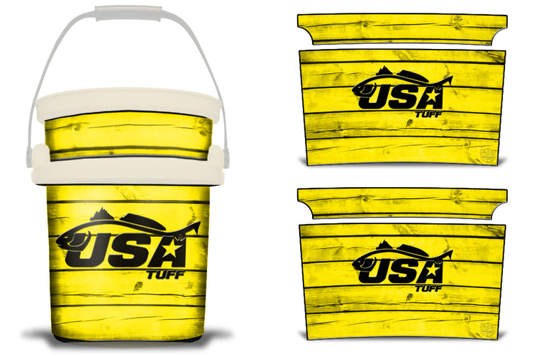 USATuff YETI Bucket Accessories Ice Bucket Graphic Sticker Decal Kits Redfish Yellow