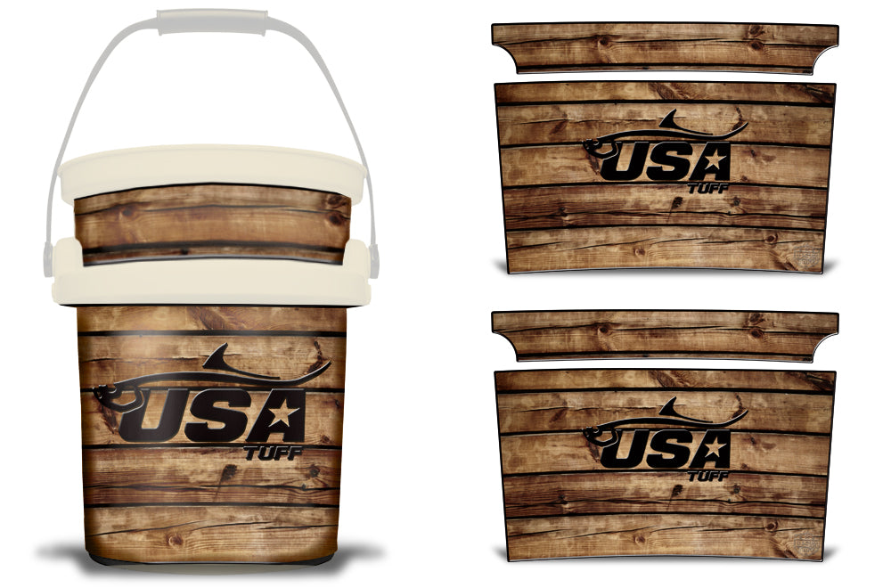 USATuff YETI Bucket Accessories Ice Bucket Graphic Sticker Decal Kits Tarpon Wood