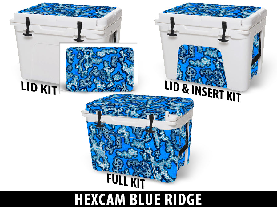 USATuff Cooler Accessories Ice Chest Graphic Sticker Decal Kits - Blue Ridge