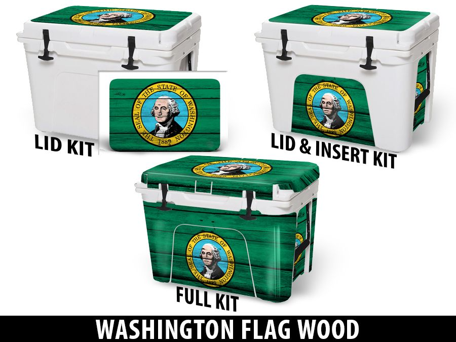 USATuff Cooler Accessories Ice Chest Graphic Sticker Decal Kits - Washington