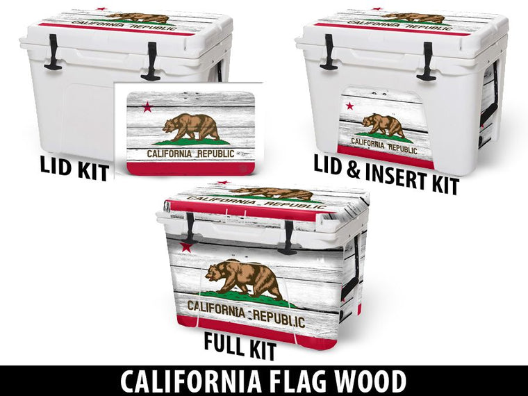 USATuff Cooler Accessories Ice Chest Graphic Sticker Decal Kits - California